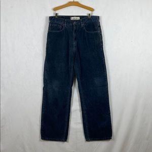 Levi's 569 Blue Corduroy Pants Men's 33x32